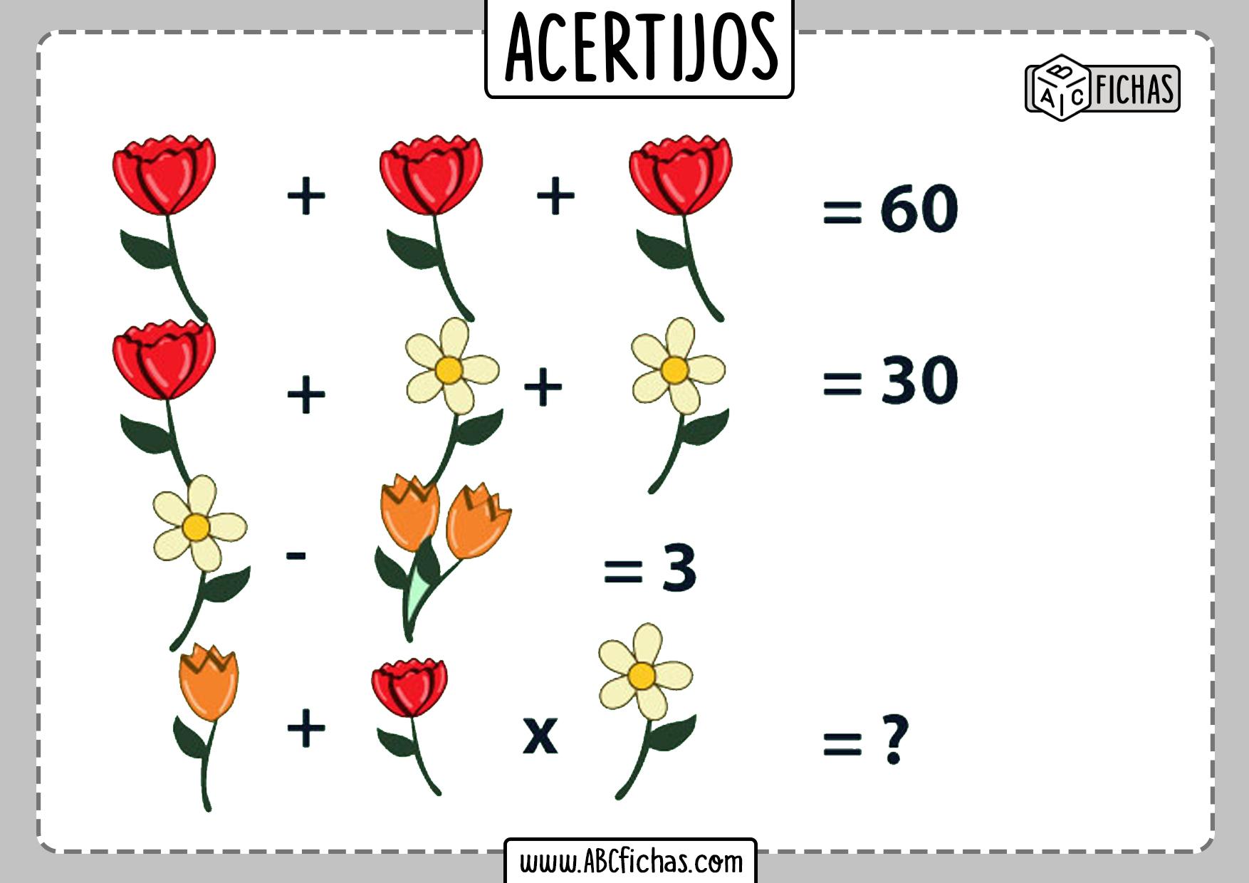 Acertijos numericos faciles