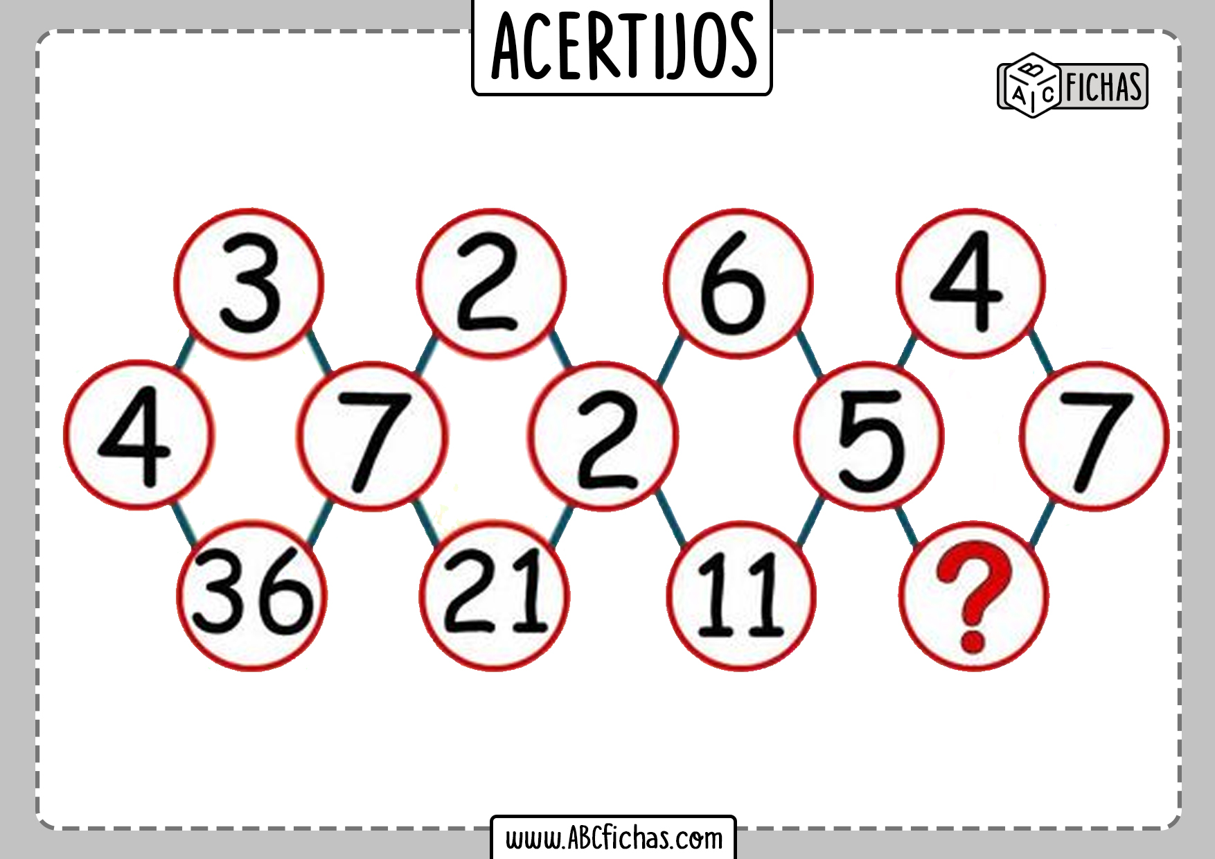Acertijos de matematicas con numeros