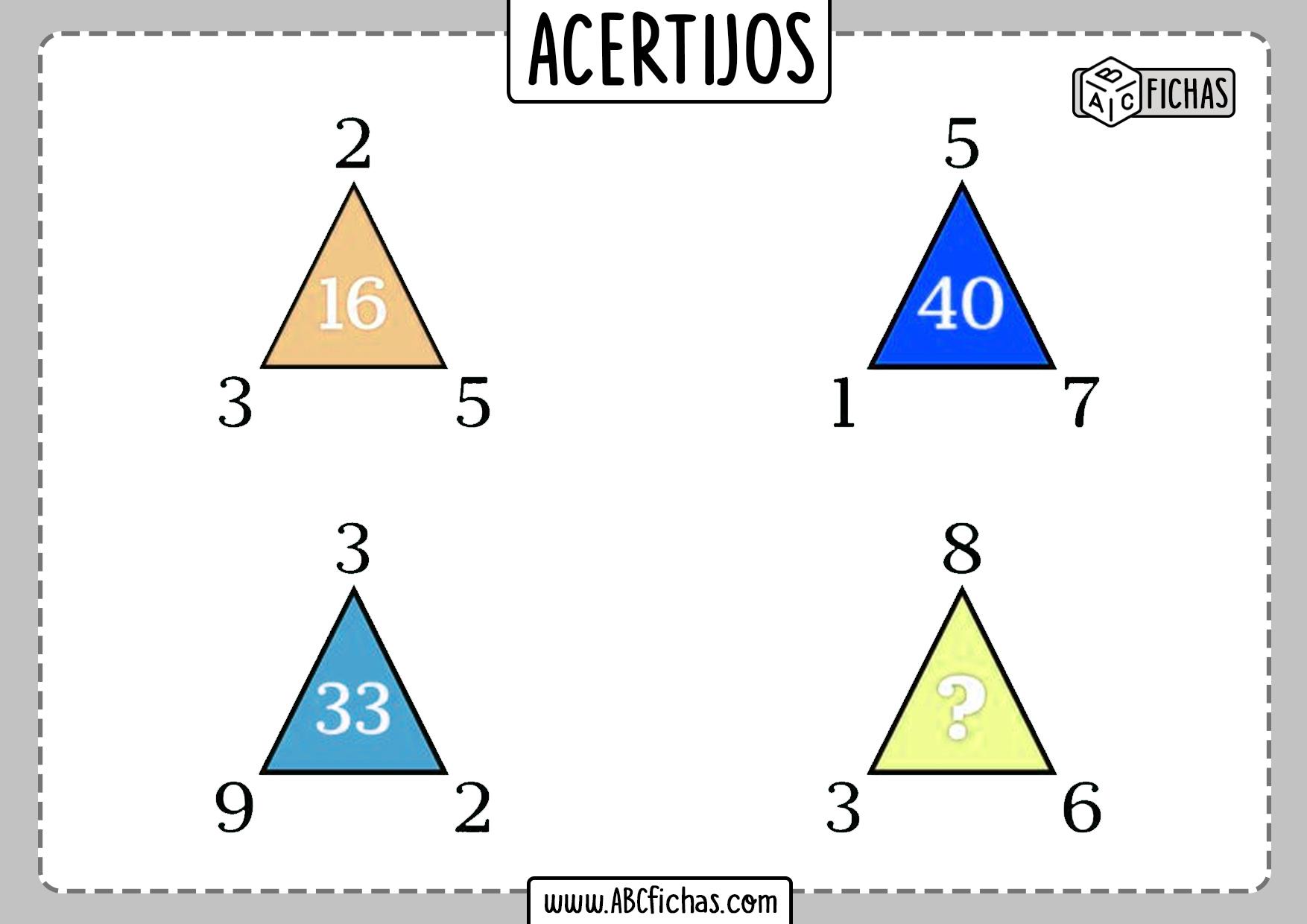 Acertijos matematicos con numeros