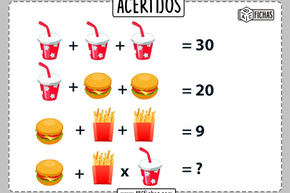 Acertijos matematicos faciles