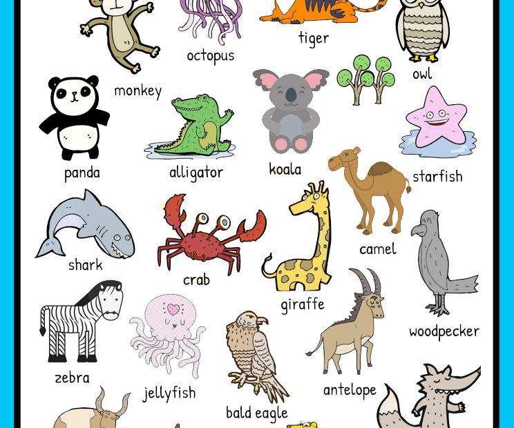 Animales en ingles para niños