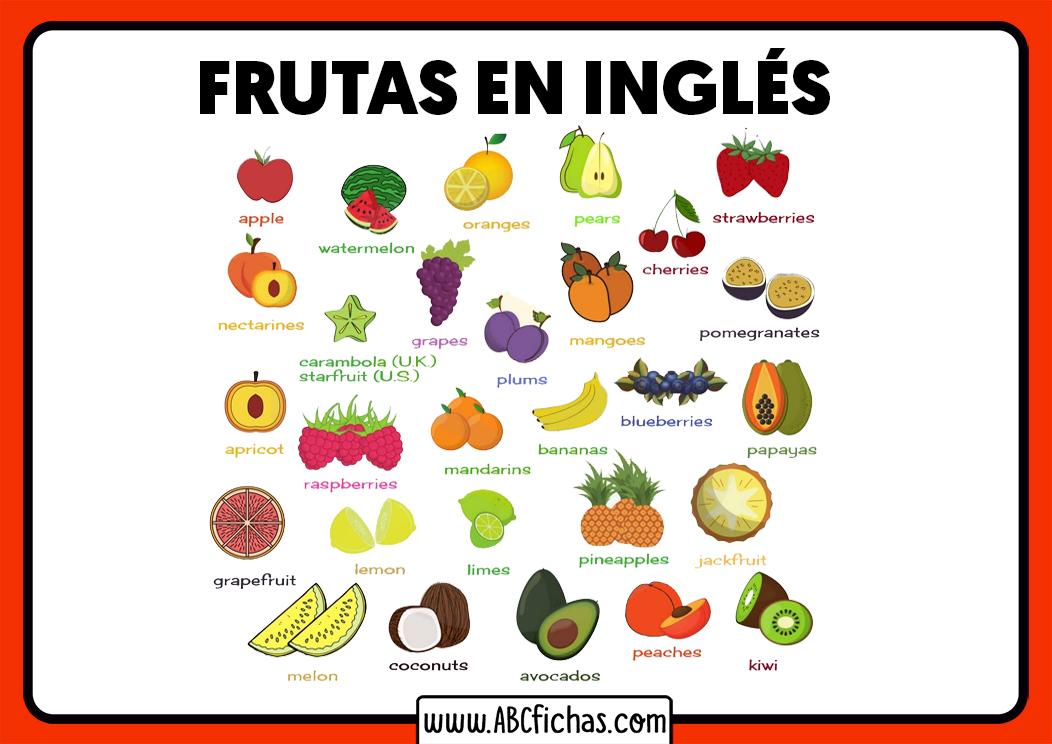 Dibujos de frutas en ingles