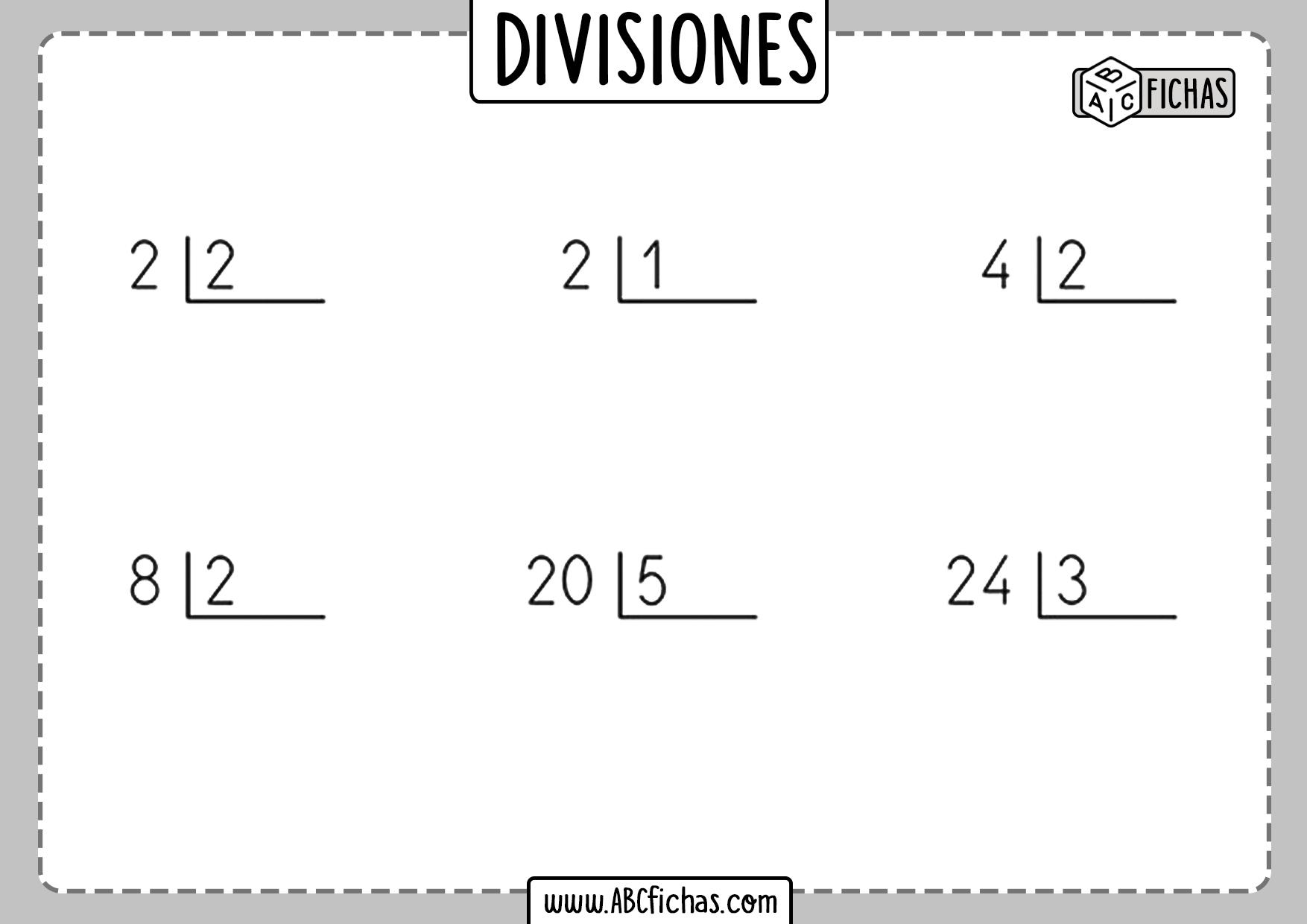 Divisiones por una cifra pdf