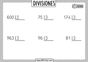 Fichas de divisiones por una cifra para resolver pdf
