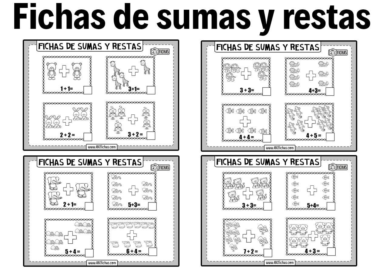 Fichas de sumas y restas