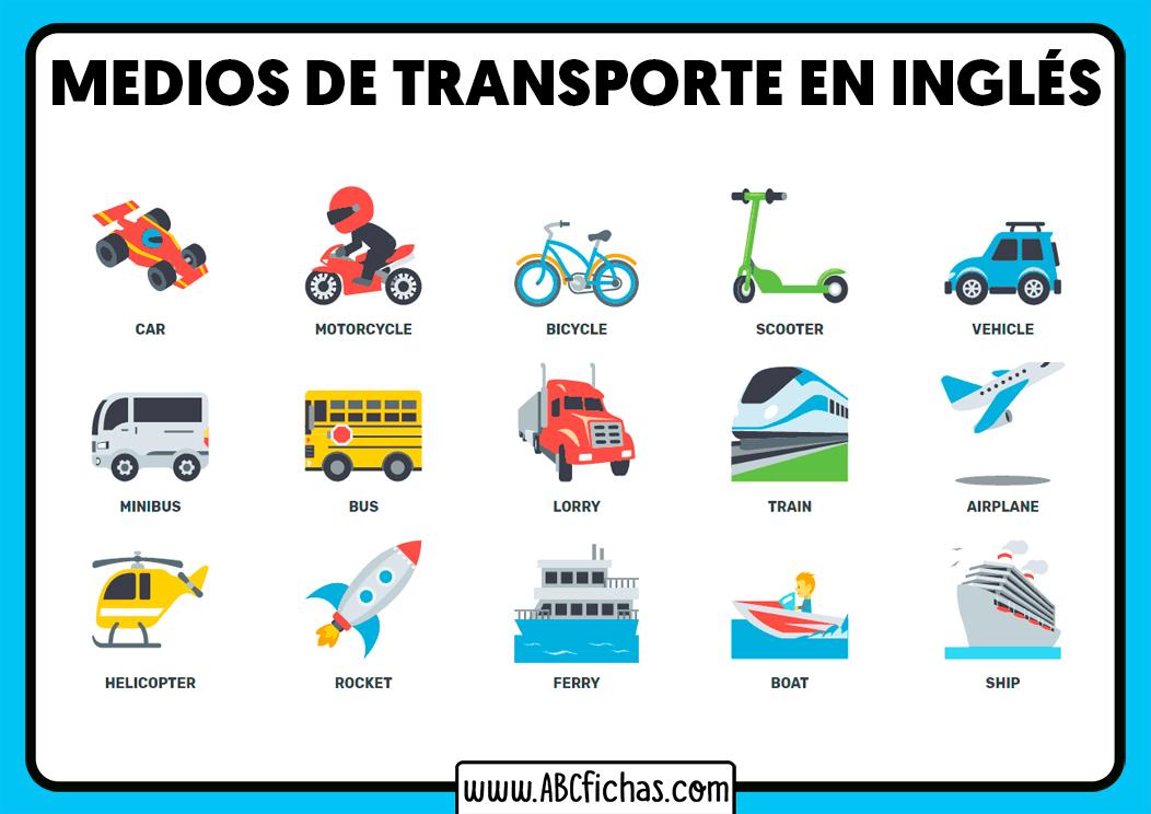 Ingles medios de transporte