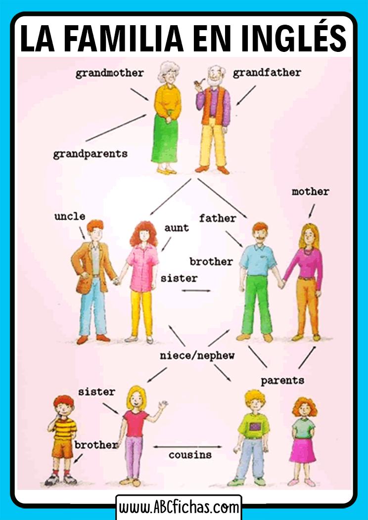 La familia vocabulario en ingles