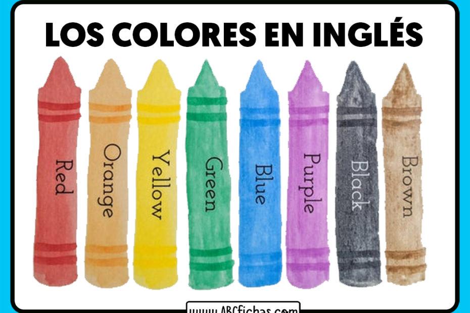 Los colores en ingles esl para niños