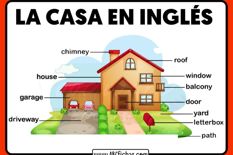 Vocabulario de la casa en ingles para niños