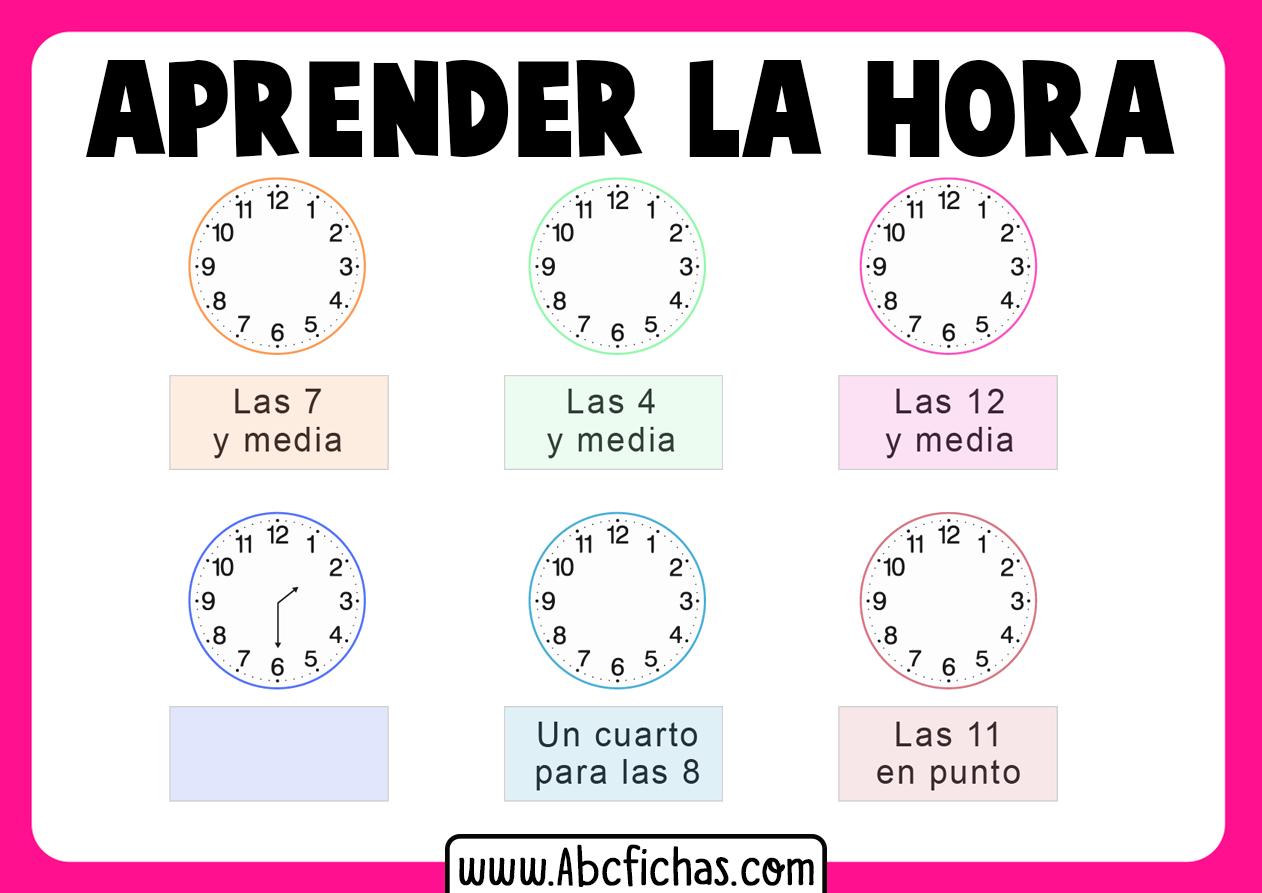 Aprender la hora del reloj