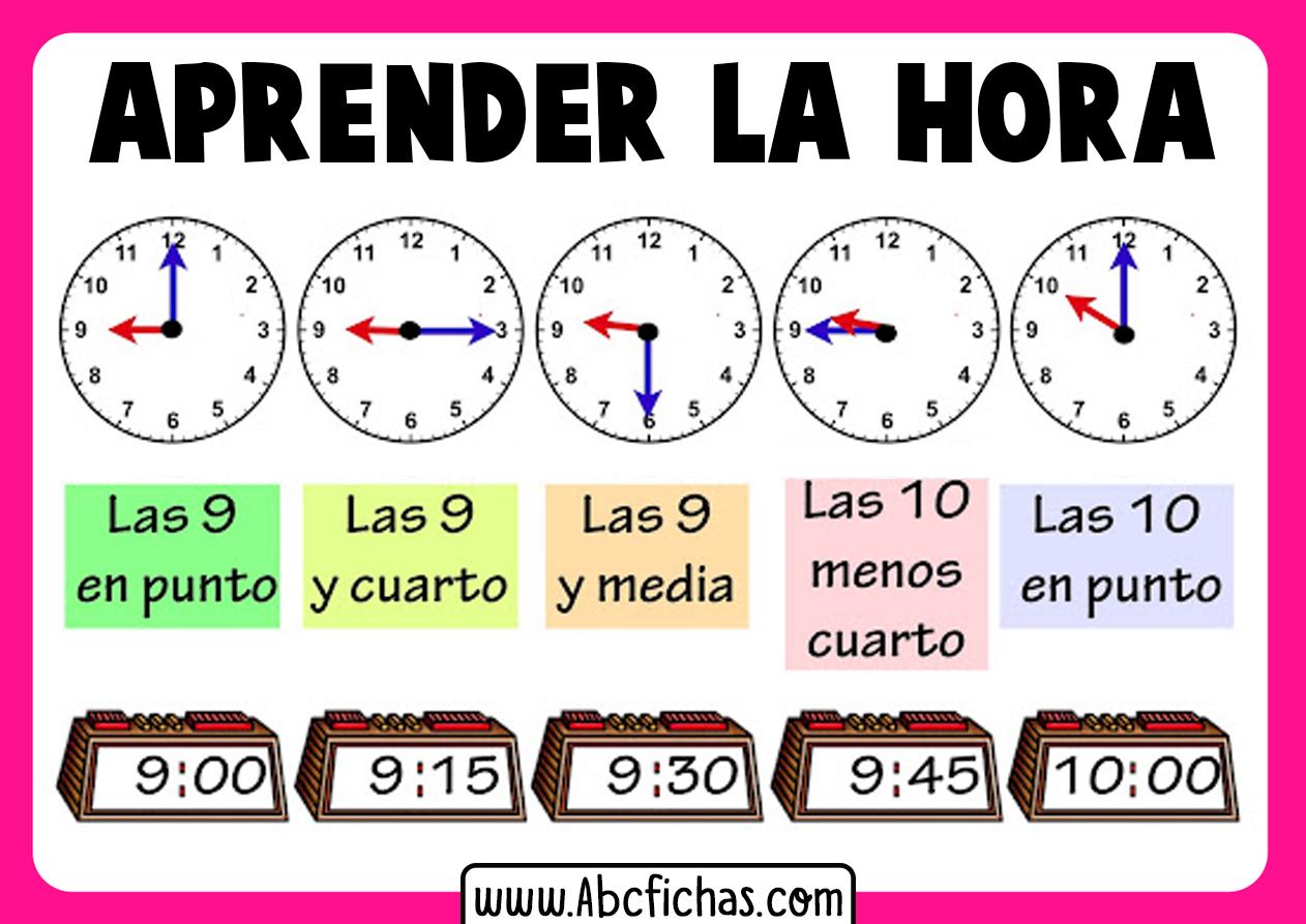 Aprender la hora