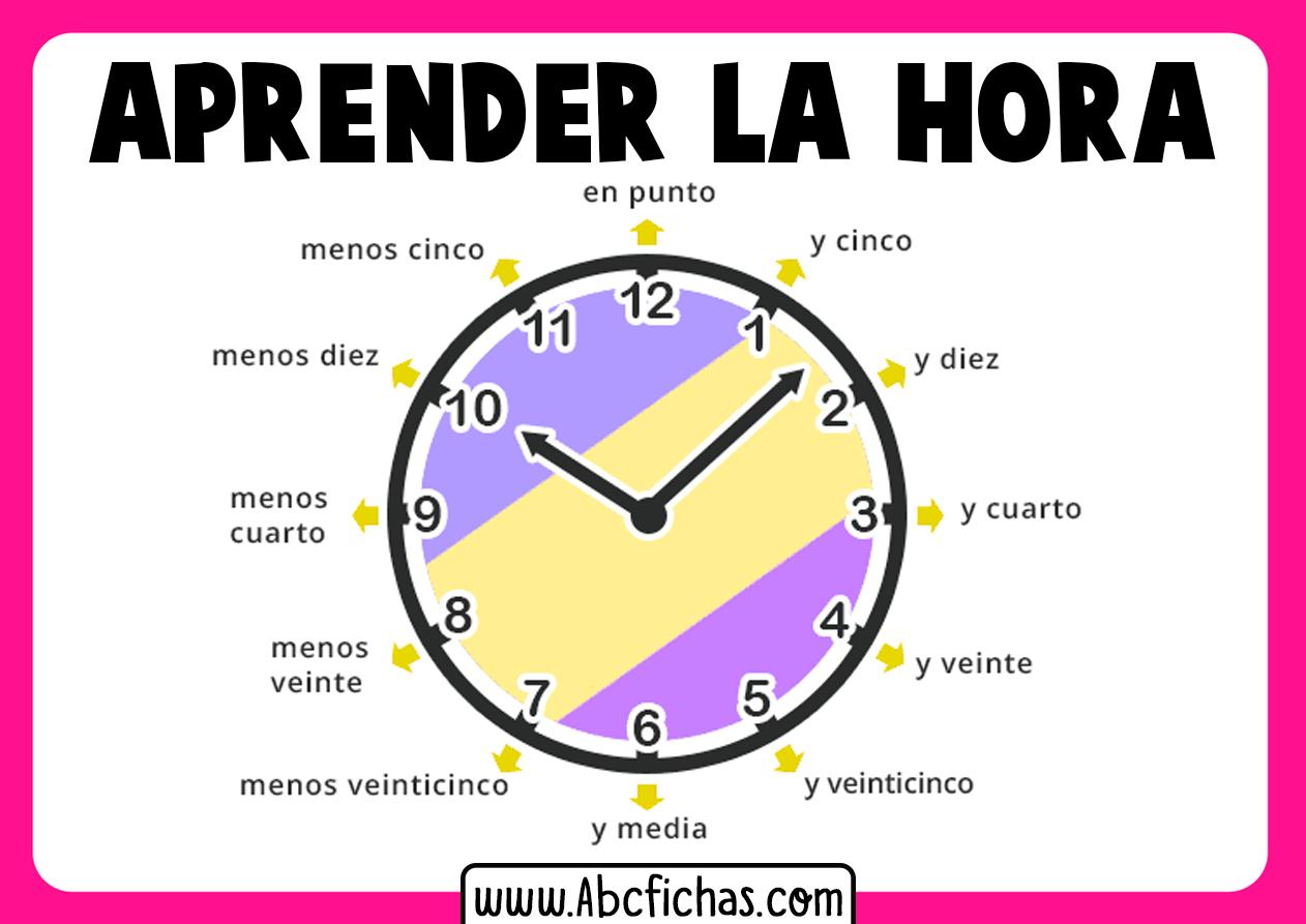 Aprender la hora para niños