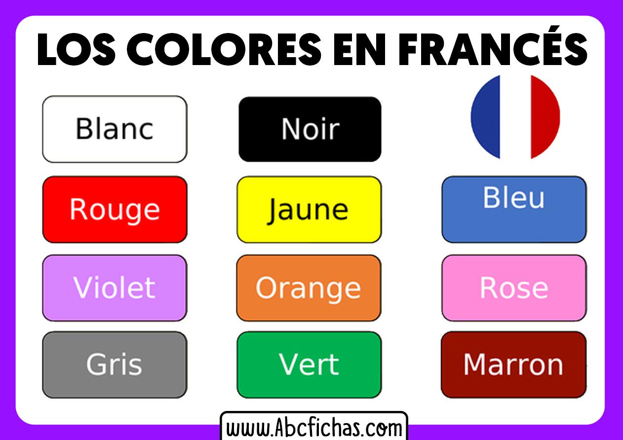 Aprender los colores en frances