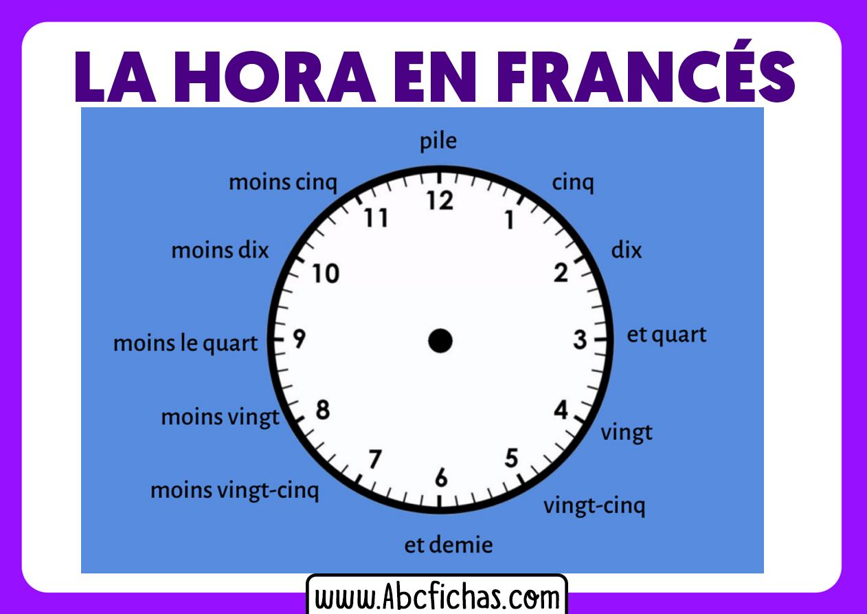 Aprendiendo la hora en frances