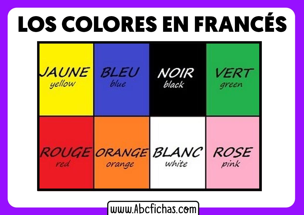 Colores en frances vocabulario