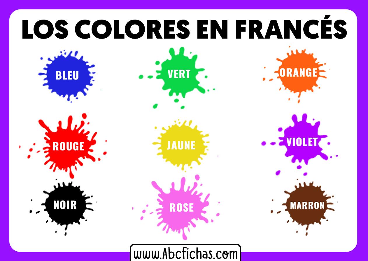 Colores en frances para niños