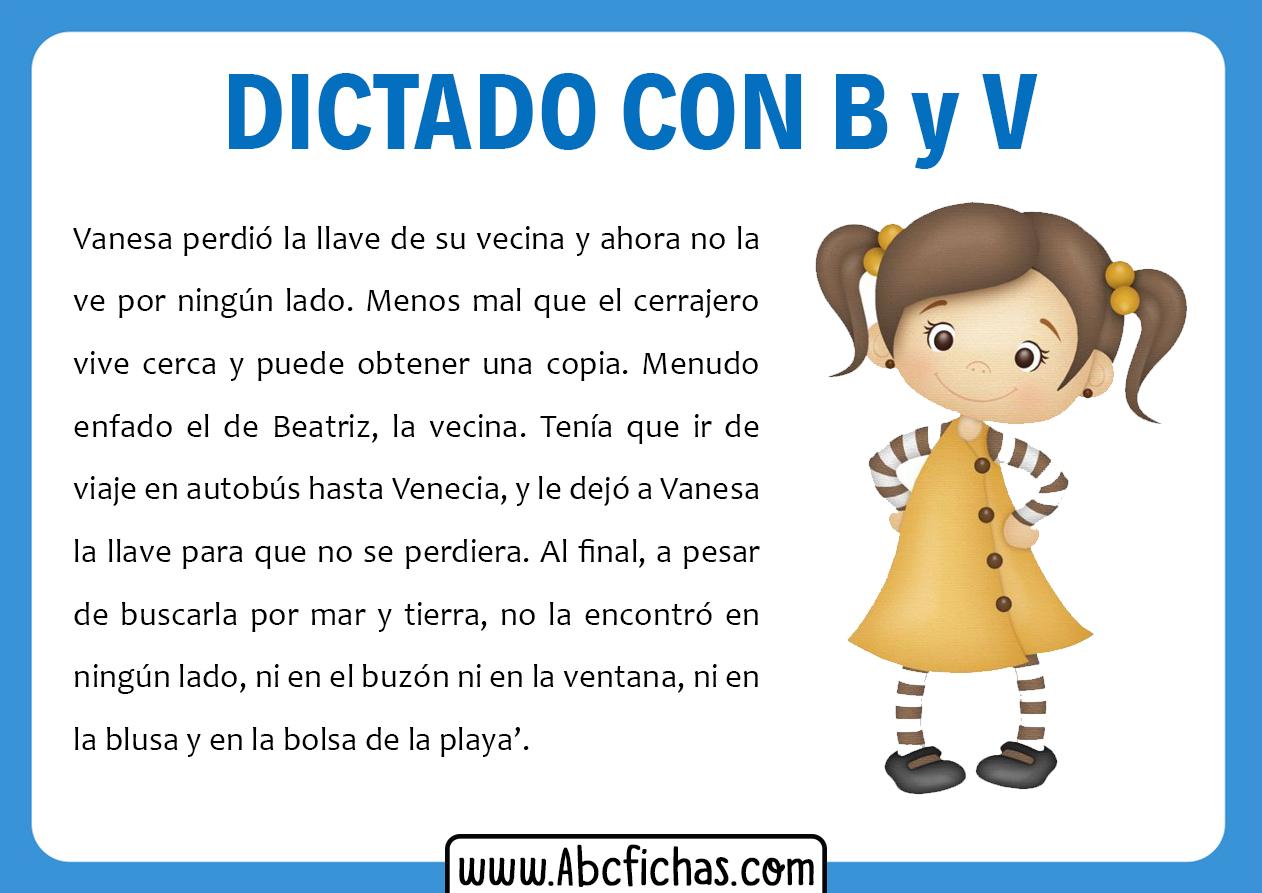 Dictados cortos con b y v