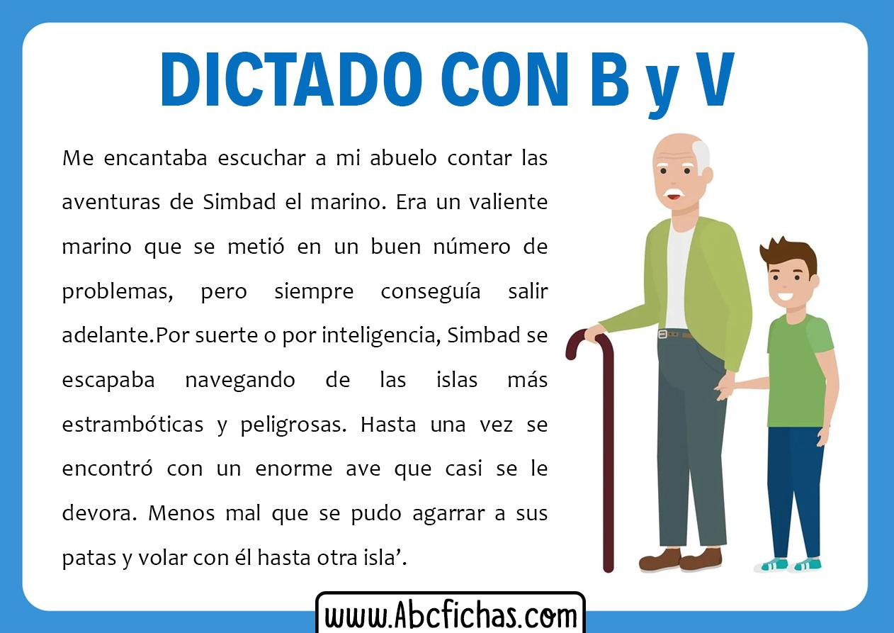 Dictados con b y v
