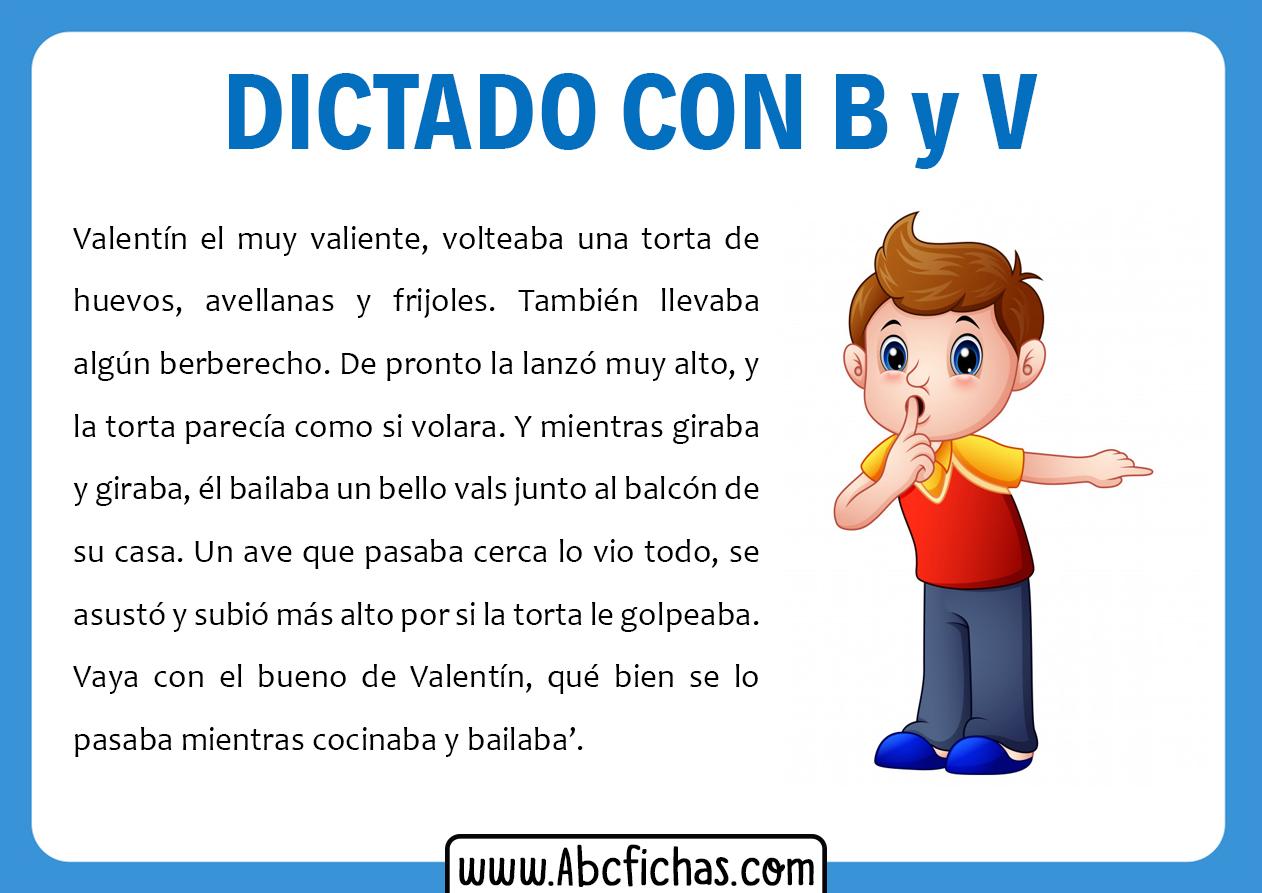Dictados con v
