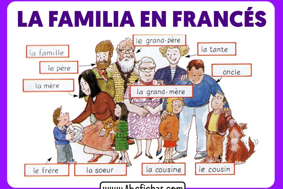 La familia en frances vocabulario