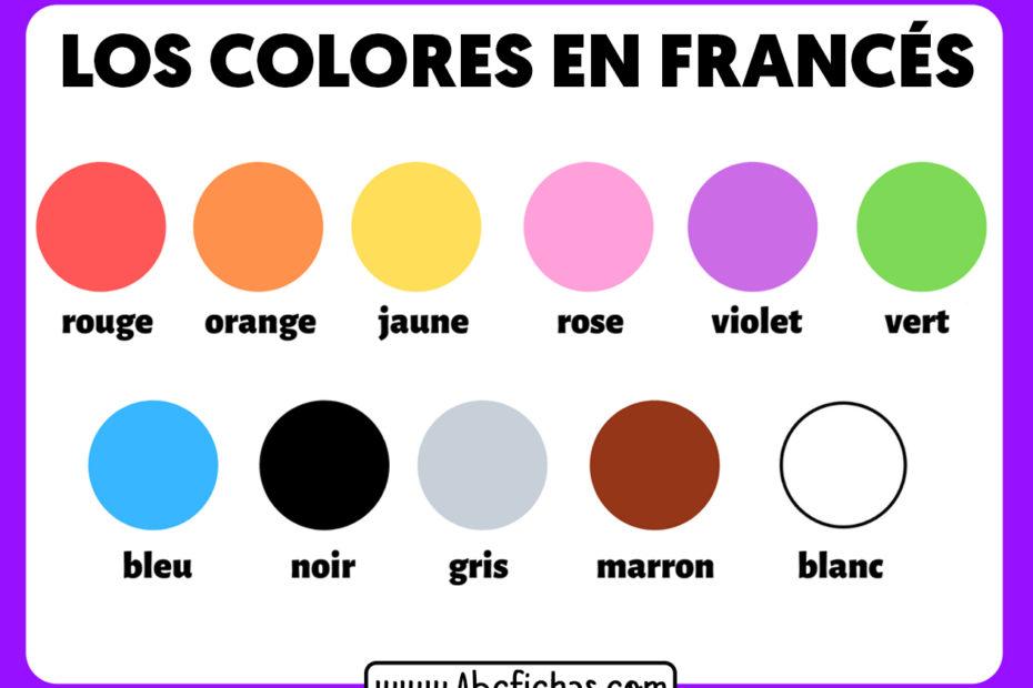 Los colores en frances