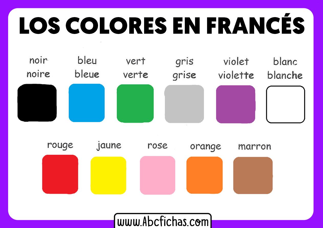 Los colores en frances para niños