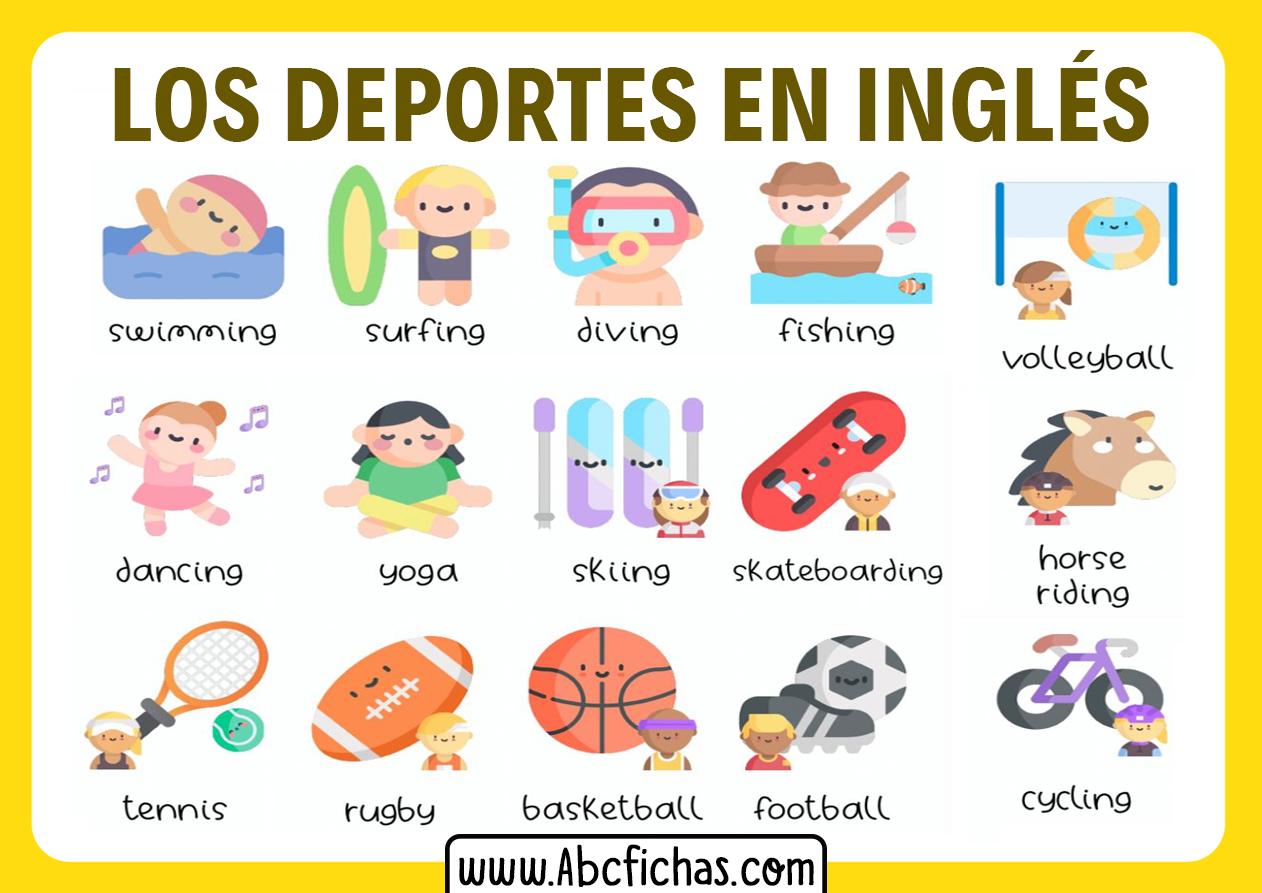 Los deportes en ingles vocabulario