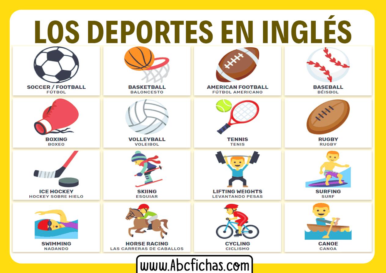 Los deportes en ingles