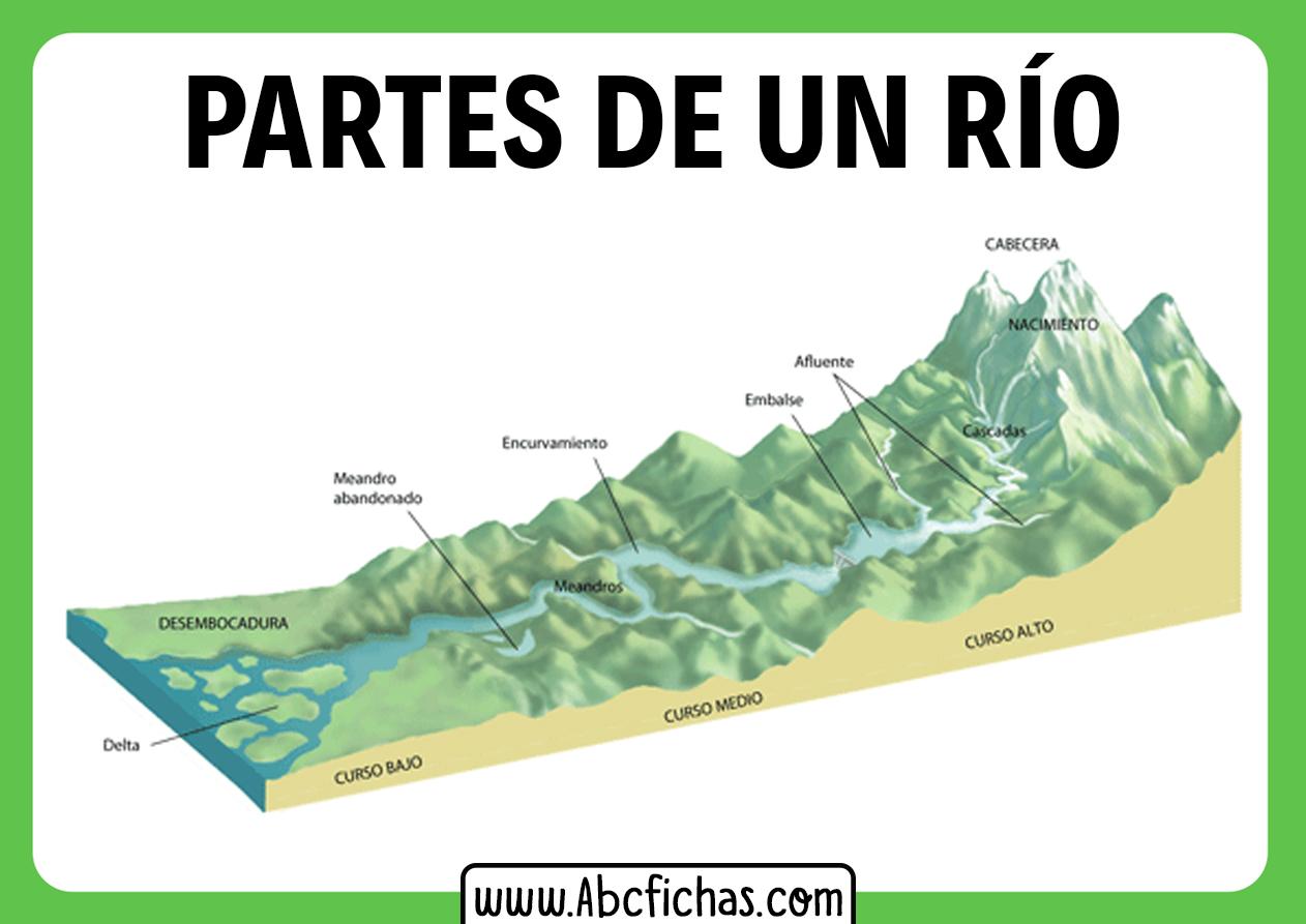 Partes y cursos de un rio