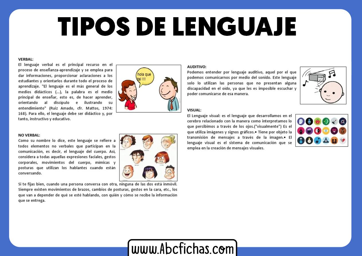 Tipos de lenguaje esquema