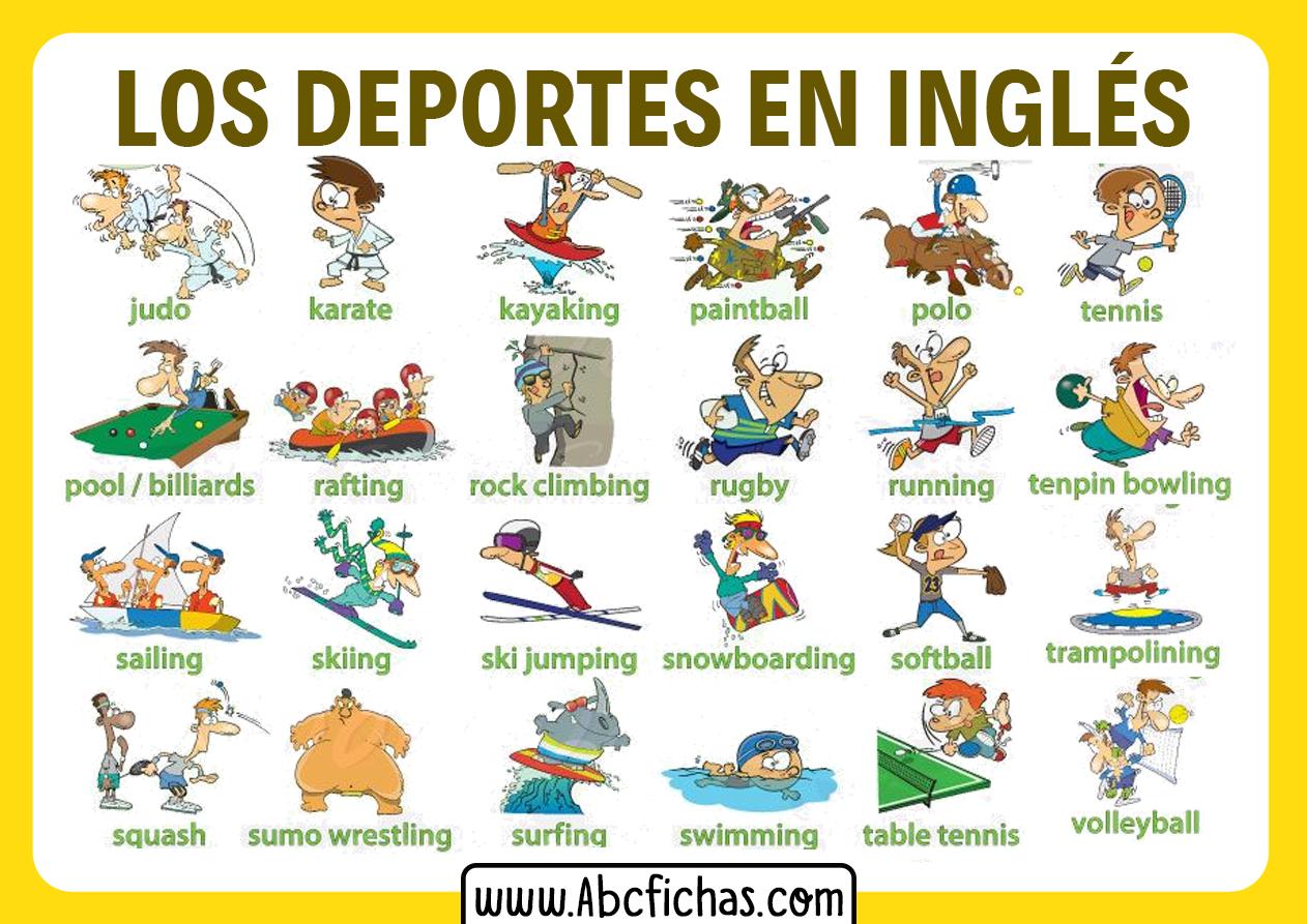 Vocabulario deportes ingles