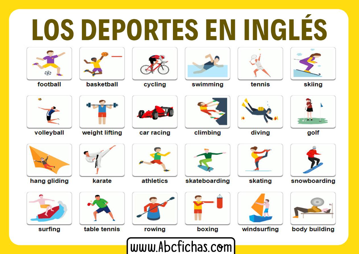Vocabulario los deportes en ingles