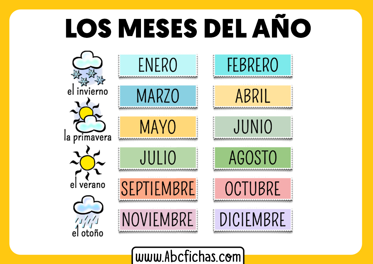 Meses del año y estaciones