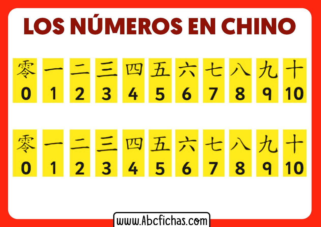 Numeracion en chino los numeros