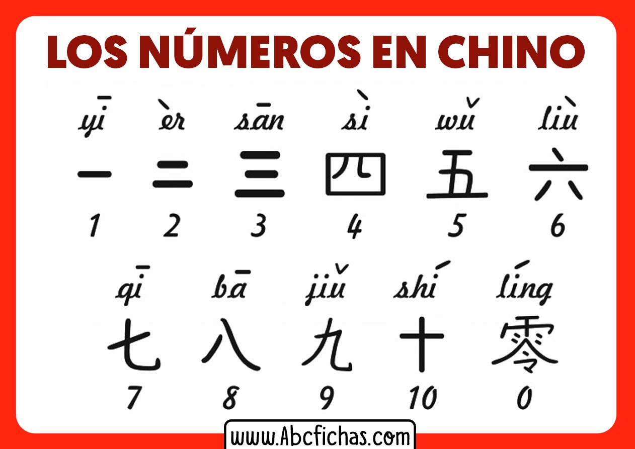 Numeros en chino 1 al 10