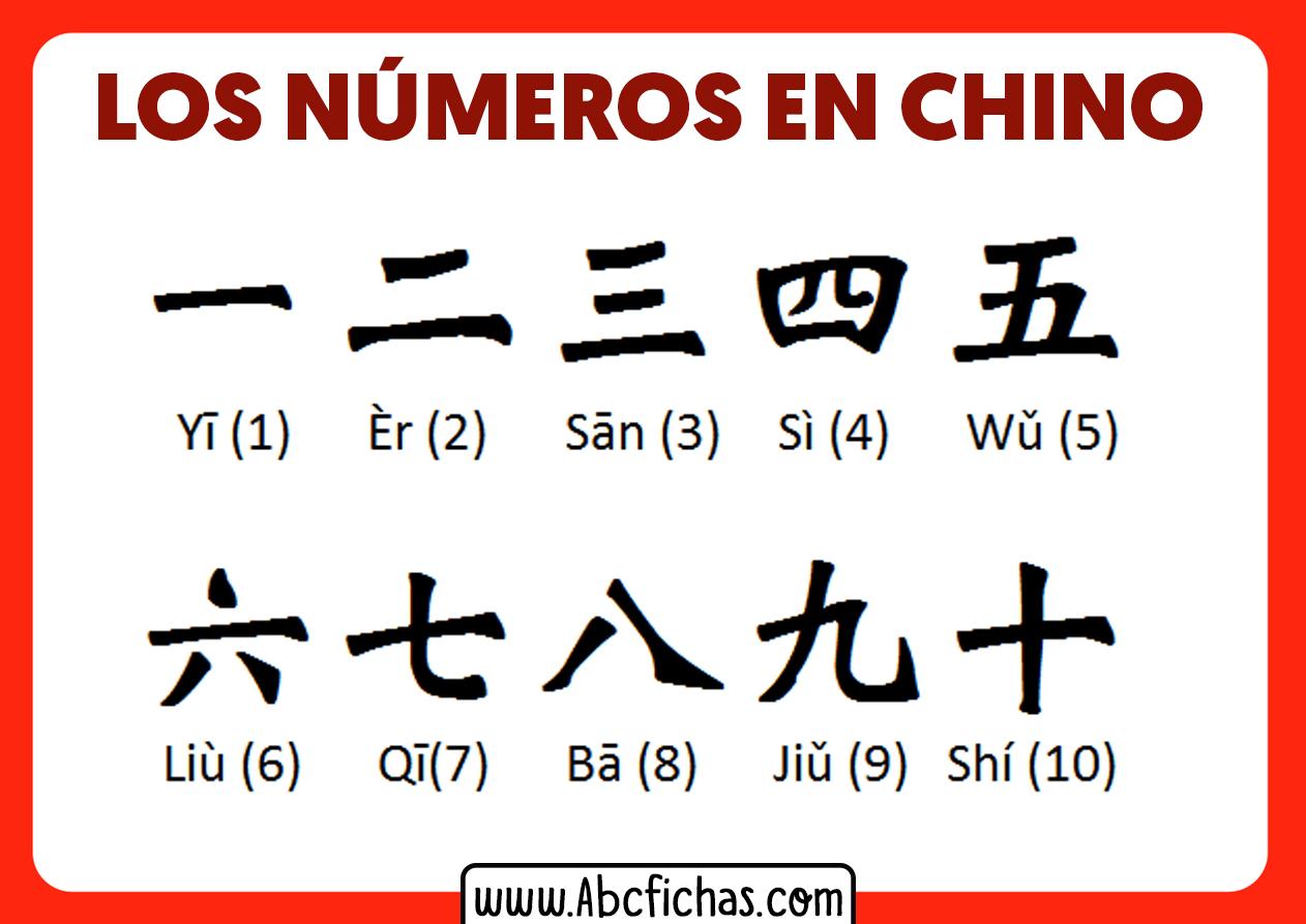 Numeros en chino del 1 al 10