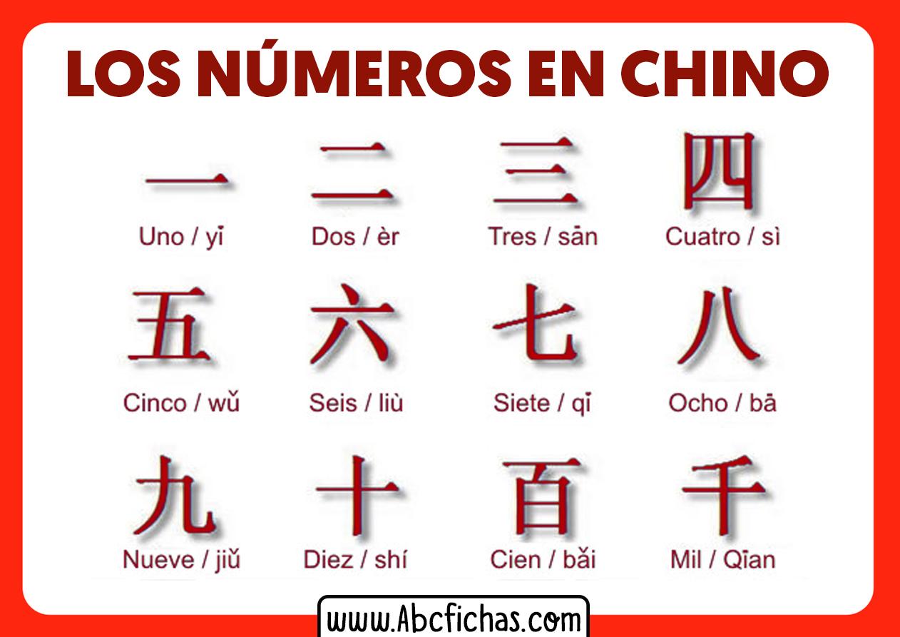 Numeros en chino
