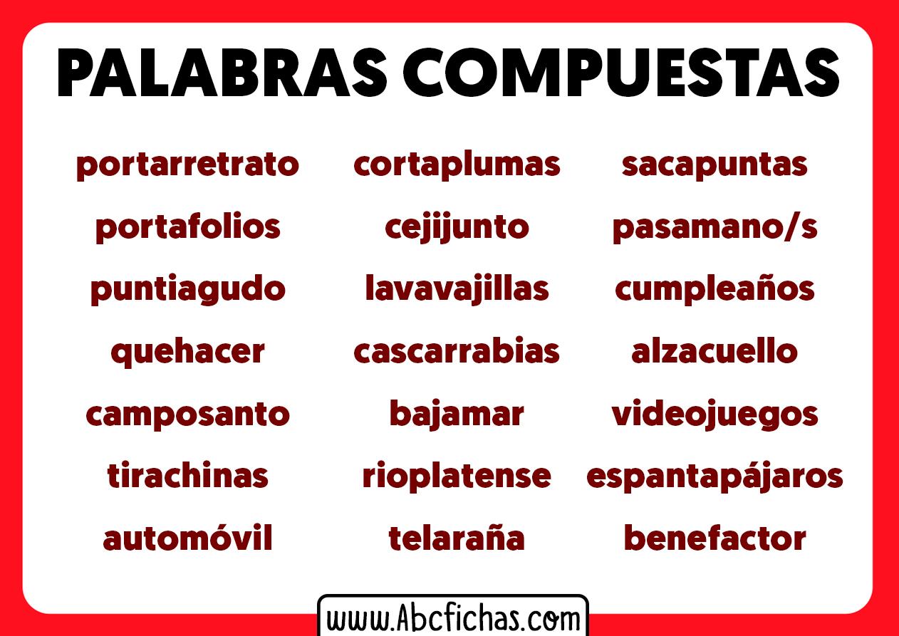 Palabras compuestas ejemplos