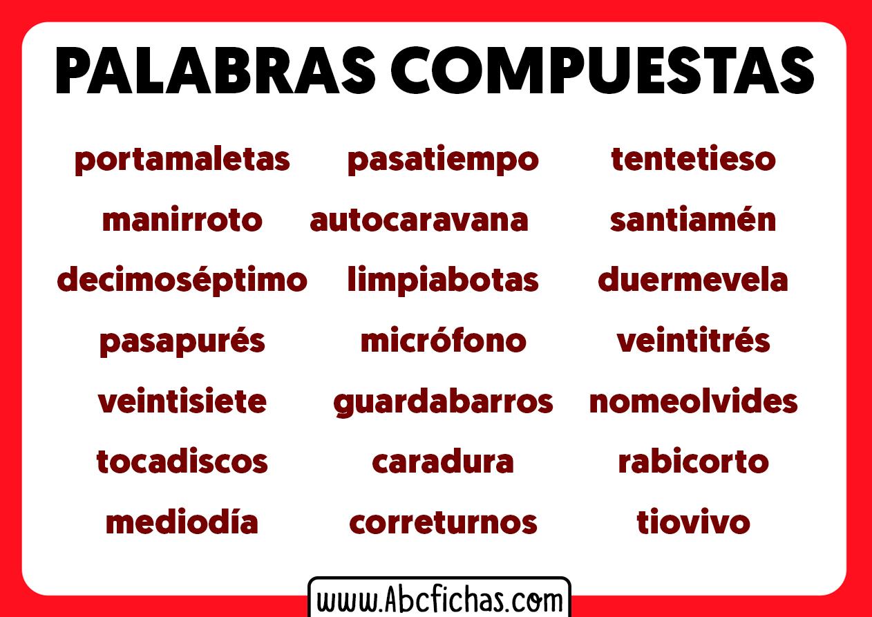 Palabras compuestas y ejemplos